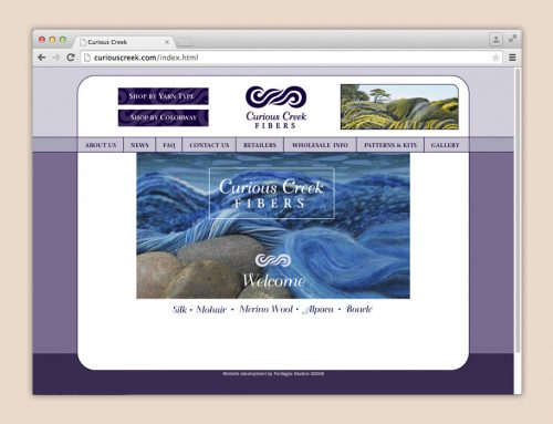 Curious Creek Fibers website