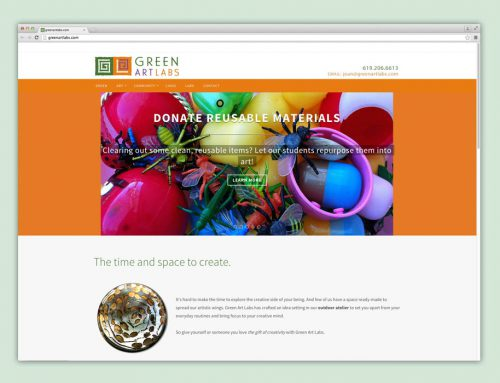 Green Art Labs website