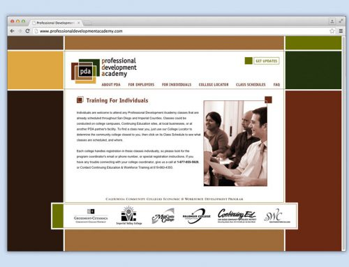 Professional Development Academy website