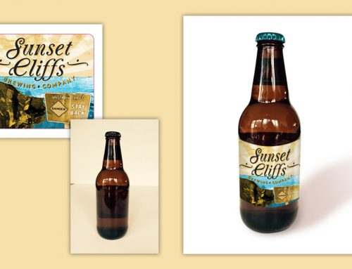 Sunset Cliffs Brewing Company label mock up